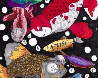 Sabbatical (Super Duper Fish Art Print / Poster)