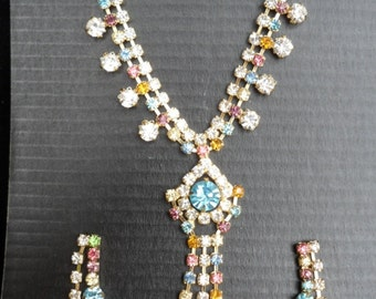VINTAGE Kitsch absolutely fabulous rhinestone jewellery set