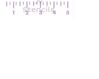 Growth Chart Stencil Template  Reusable Stencil Growth
