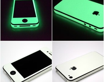 Apple iPhone 4 4S 5 5S 6 6S 7 8 Plus - Glow in the Dark Luminescent Fullbody Luminous Protector Skin Wrap - Not a hard case cover
