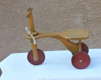 Kiddie Kar Wooden Tricycle