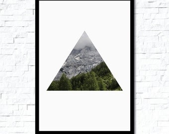 Mountain Triangle Photography Poster Print