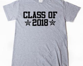 Class Of 2018 T-shirt Funny Hilarious Cool Senior 2018 Graduation School Tee
