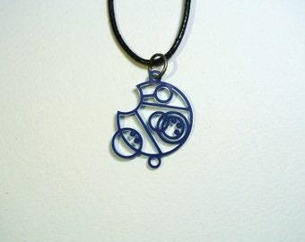 Allons-y Necklace Circular Gallifreyan
