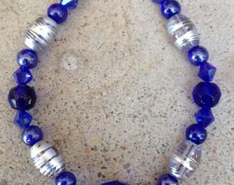Colbalt Blue Beaded Braclet