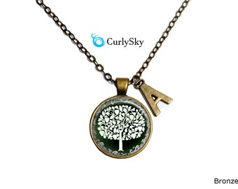 Green Tree Necklace Eco Green Pendant Green Tree Jewelry Eco Green Necklace Green Tree Pendant Tree of Life Necklace Green Tree Necklace