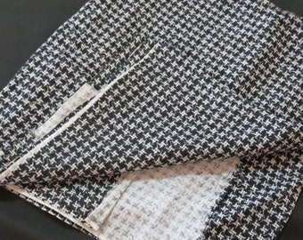 Vintage Cotton Rayon  Black and White Fabric