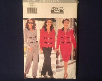 Butterick 4196 Misses Top, Skirt, & Pants Jessica Howard Sewing Pattern Size 6 8 10 12 Uncut