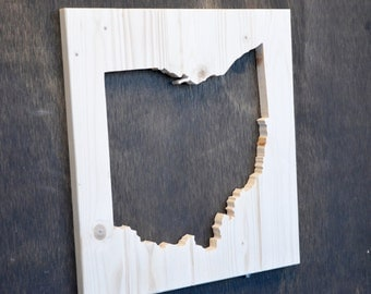 Ohio State Wood Silhouette Cutout