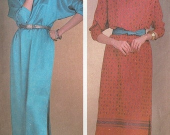 Simplicity vintage 1980s sewing pattern 6206 day or evening dress - Size 10-12-14