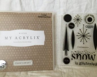 CTMH~Glistening Snow~My Acrylix Stamp Set~C1244~Close To My Heart