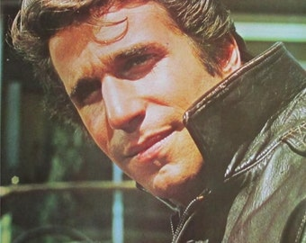 Vintage 1970s~THE FONZ~Fonzie HAPPY Days Poster