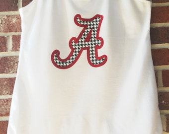 Alabama Houndstooth Tank Top, Hounds tooth Houndstooth Shirt, Bama, Roll Tide, University of Alabama, Alabama Shirt, glitter, houndstooth