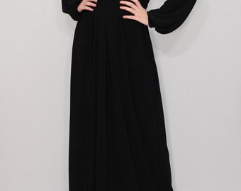 Black maxi dress Long sleeve dress Maxi dress Women