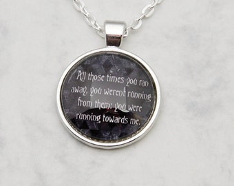Lucifer Necklace Pendant Supernatural Angel Fandom Fangirl quote SPN Sam Winchester TV-Series round Glascabochon handmade fashion jewelry