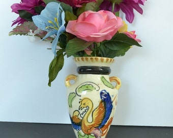 Antique Oriental Wall Pocket Vase