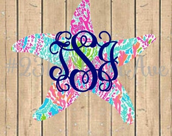 Starfish Lilly Pulitzer Inspired Monogram Deal