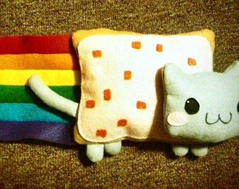 Nyan Cat Plush Pillow (READY TO SHIP)