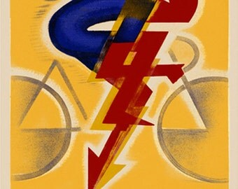 Bike Bicycle  Race Cycles Dilecta Vintage Poster Repro FREE SHIPPING in U S A