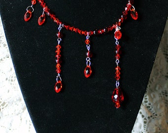 Blood Drops Choker Necklace
