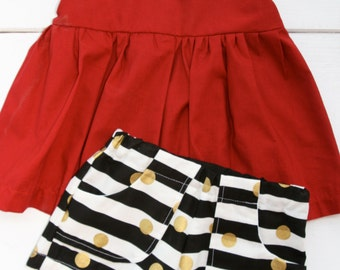 Red & Black GAMEDAY 2 piece outfit