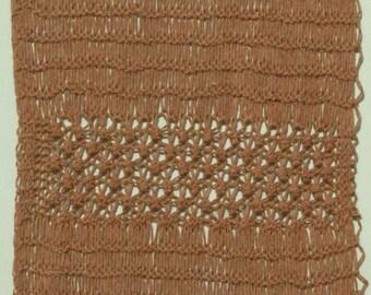 "Hand Knit Brown Wool Wall Hanging, Wall Art 18"" x 26.5"""