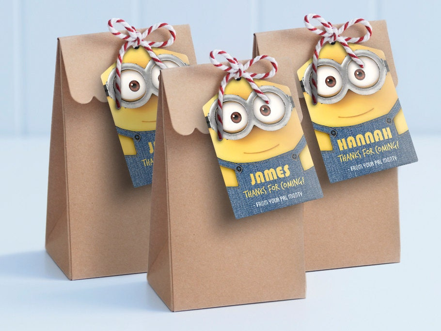 Minion printable lollie bag tags edit and print as many
