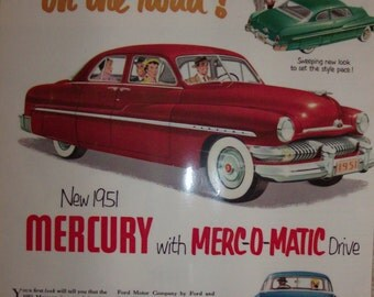 1951 Mercury ad & Dianetcis article