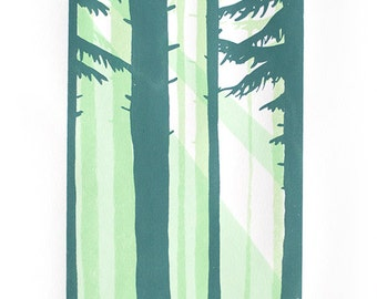 Screen Print Poster - A Light in the Forest