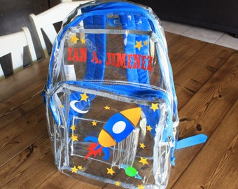 Personalized Clear Backpack for Kids, School Backpack