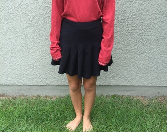 Red long sleeved collared shirt