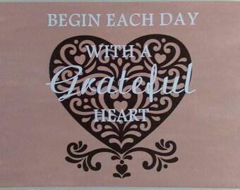 Grateful Heart Canvas