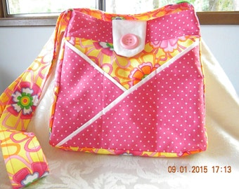 Pink Flower Handbag