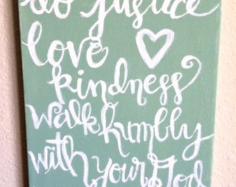 Customized Quote/Bible Verse Painted Canvas