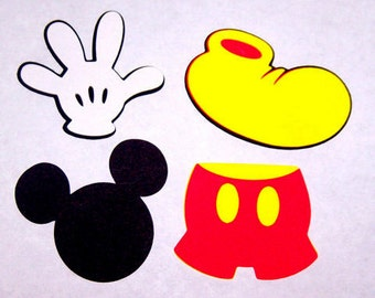 24 Mickey Mouse die cut shapes 3 inches