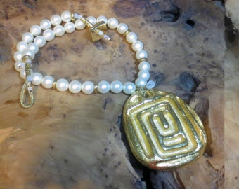 necklace 'Athena',meader,Eternity symbol,Greek aesthetic,handmade
