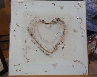 Wired Heart Picture with Butterflies
