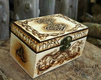 Mjöllnir Viking Norse Pyrography Box