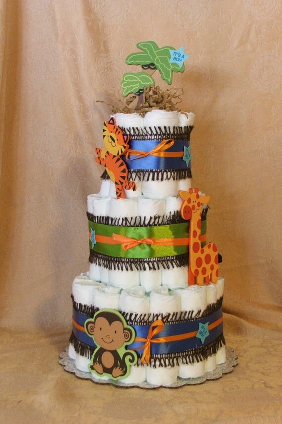 3 tier diaper cake fisher price rainforest by