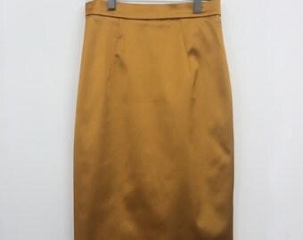 Dolce & Gabbana Mustard Midi Skirt