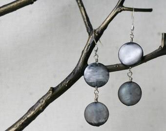 Grey Shell Earrings