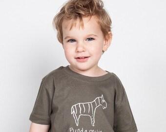 "Kipepeo kids organic shirt ""Zebra"" unisex"