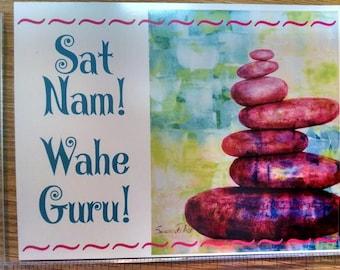 Sat Nam Wahe Guru art magnet