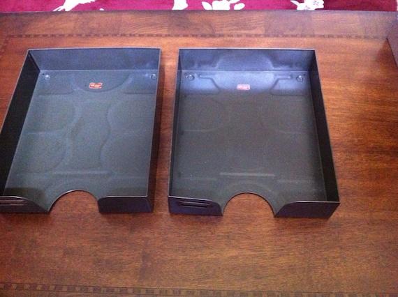 Kleiderstander Weis Metall ~ Vintage weis metal desk trays letter size w label by