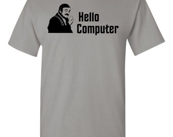 Scotty Hello Computer T-Shirt From Star Trek IV The Voyage Home, Star Trek Tshirt, Star Trek, Kirk, Spock, Enterprise, Picard