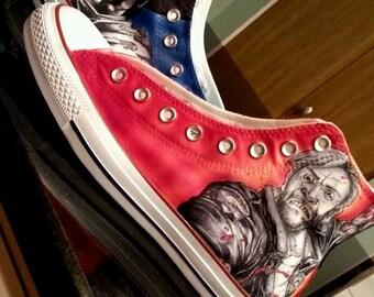 Walking Dead shoes, converse shoes hightops