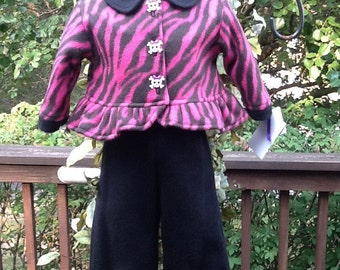 Hot Pink & Black Zebra Stripes