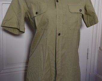 Vintage man military shirt 1970 size S / Vintage military shirt 1970 men