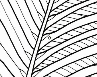 palm tree coloring page beach art digital download adult coloring page coloring page ocean beach scene palm tree pattern