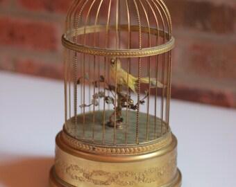 Early 1900s French Bontems Singing Bird Cage Automaton